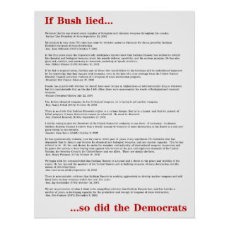 Democrats Lied Poster