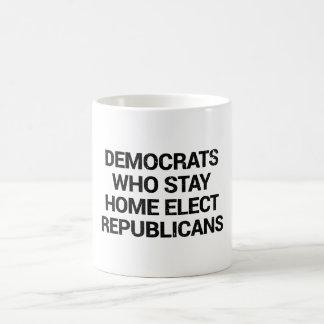 Democrats who stay home elect republicans mug