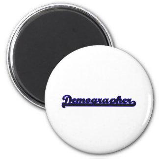 Demographer Classic Job Design 6 Cm Round Magnet
