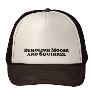 Demolish Moose and Squirrel - Mixed Clothes Mesh Hats