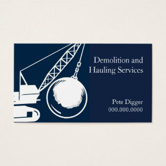 Demolition and Hauling Service Construction Business Card