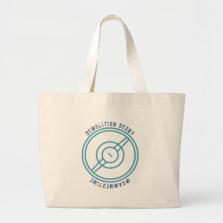 Demolition Derby - Blue Station Large Tote Bag