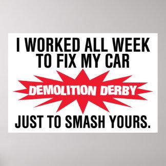 Demolition Derby Smash Your Car Poster