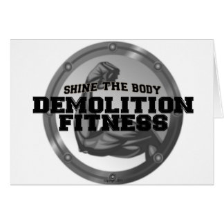 Demolition Fitness Logo Greeting Card