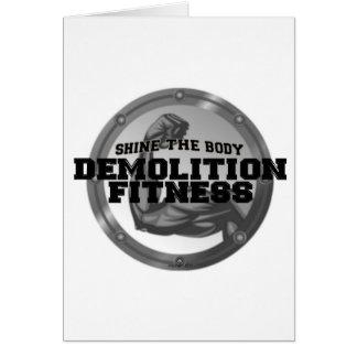 Demolition Fitness Logo Greeting Card