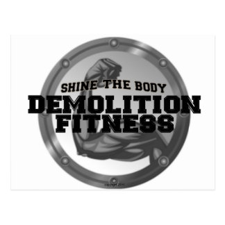 Demolition Fitness Logo Postcard