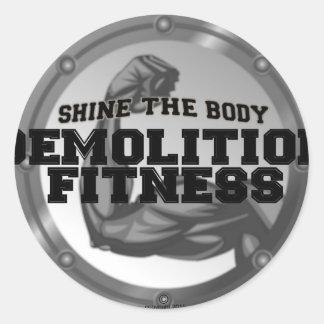 Demolition Fitness Logo Stickers
