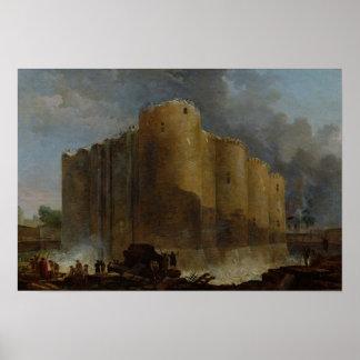 Demolition of the Bastille, 1789 Poster