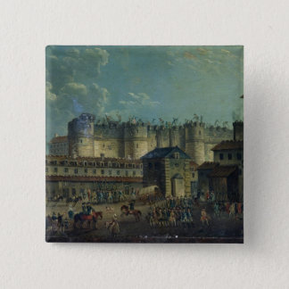 Demolition of the Bastille in 1789 15 Cm Square Badge