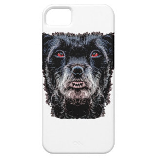 Demon Black Dog Head Barely There iPhone 5 Case