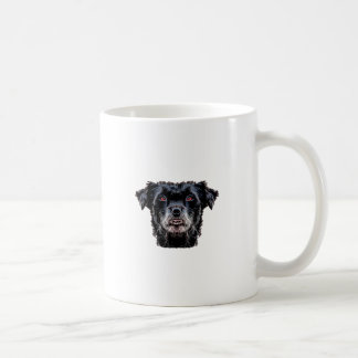 Demon Black Dog Head Coffee Mug
