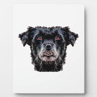 Demon Black Dog Head Plaque