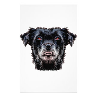 Demon Black Dog Head Stationery
