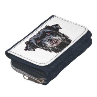 Demon Black Dog Head Wallets