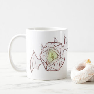 Demon D20 Sketch Mug