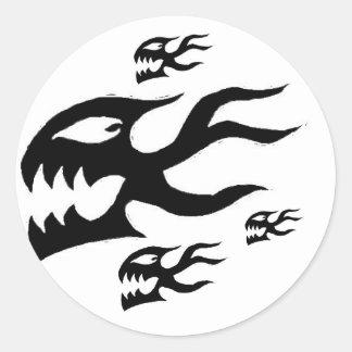 Demon Fish Round Sticker