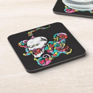 Demon Heart Skull Coasters