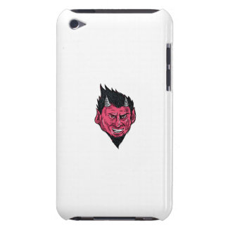 Demon Horns Goatee Head Drawing Case-Mate iPod Touch Case