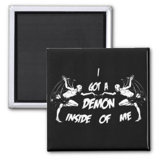 Demon Inside II Square Magnet