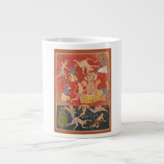Demon Kumbhakarna Defeated by Rama and Lakshmana 20 Oz Large Ceramic Coffee Mug