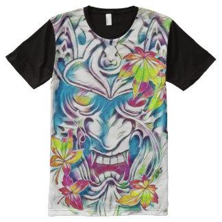 Demon Mask Watercolor Fantasy  Art All-Over Print T-Shirt