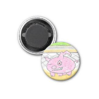 Demon Pig 3 Cm Round Magnet