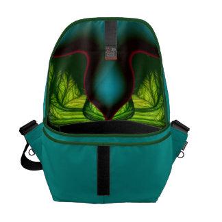 Demon Shadows – Emerald and Yellow Mask Messenger Bags