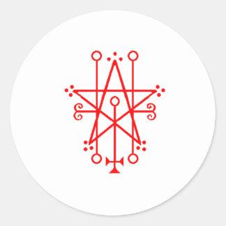 demon sigil round sticker