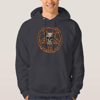 Demon Skull & Burning Pentagram Hoodie