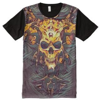Demon Skull Dark Fantasy Art All-Over Print T-Shirt