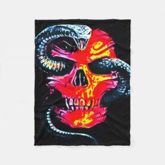 Demon Skull Fleece Blanket