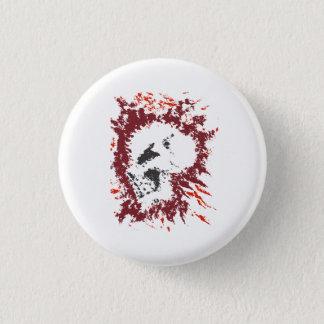 Demon Skull Paint Splatter Graphic Pinback Button