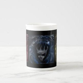 Demon Skulls, red blue yellow, specialty mugs
