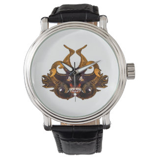 Demon Tribal Mask Wrist Watches