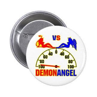 Demon vs Angel Girls Button