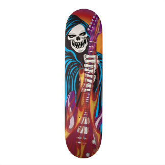 Demon with Flaming Guitar 20.6 Cm Skateboard Deck