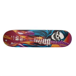 Demon with Flaming Guitar 21.6 Cm Skateboard Deck