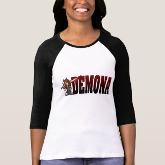 Demona 3/4 Sleeve Black T-Shirt