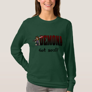 Demona Long Sleeve Army Black T-Shirt