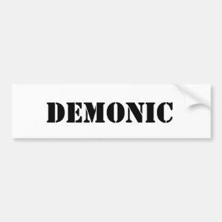 Demonic Bumper Sticker
