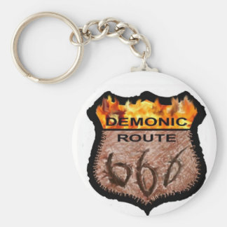 Demonic Route 666 Key Ring
