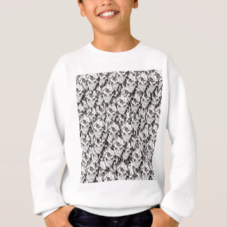 Demonic skulls pattern spooky skeleton face black sweatshirt