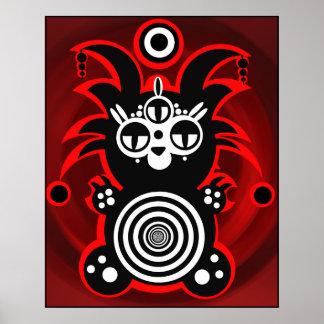 Demonimals Voodoo Koala Poster design