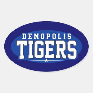 Demopolis High School; Tigers Oval Sticker