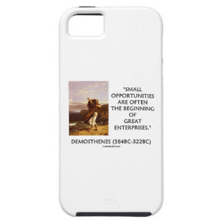 Demosthenes Small Opportunities Great Enterprises iPhone 5 Cover