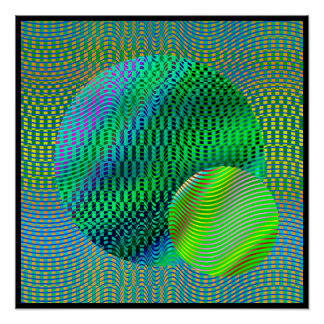 Demotherea Op-Art  Poster