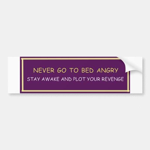 Demotivational funny bumper sticker NEVER GO TO..