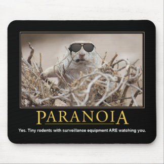 Demotivational Mousepad: Paranoia Mouse Pad