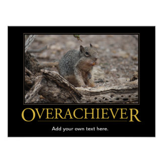 Demotivational Poster: Overachiever Poster