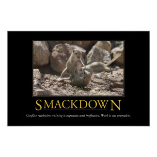 Demotivational Poster: Smackdown Poster
